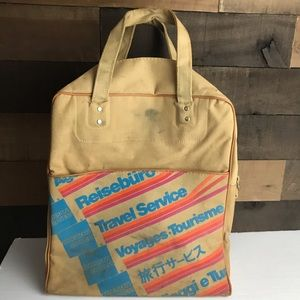 1970s American Express canvas carry on bag